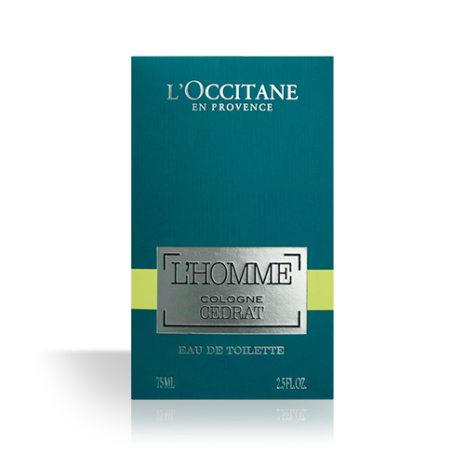 L'Occtaine L'Homme Cologne Cedrat Eau de Toilette 75ml